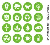 set of eco icons in flat style  ...   Shutterstock . vector #402839089