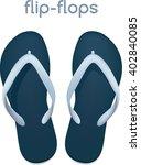 vector realistic flip flops | Shutterstock .eps vector #402840085