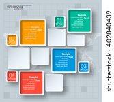 vector abstract 3d paper... | Shutterstock .eps vector #402840439