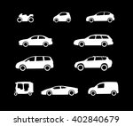 car body configuration types.... | Shutterstock .eps vector #402840679