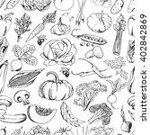 hand drawn seamless pattern...   Shutterstock .eps vector #402842869