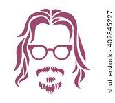hipster portrait. vector... | Shutterstock .eps vector #402845227