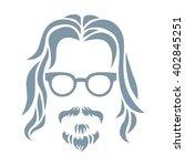 hipster portrait. vector... | Shutterstock .eps vector #402845251