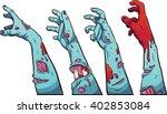 cartoon zombie hands. vector... | Shutterstock .eps vector #402853084