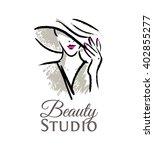 logo for the beauty studio....   Shutterstock .eps vector #402855277