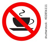 no coffee cup sign icon  red... | Shutterstock .eps vector #402856111