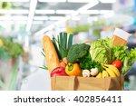 eco friendly reusable shopping...   Shutterstock . vector #402856411