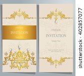 wedding invitation or card with ... | Shutterstock .eps vector #402857077