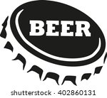 beer cap with beer word | Shutterstock .eps vector #402860131