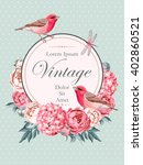beautiful vintage vector card... | Shutterstock .eps vector #402860521
