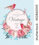beautiful vintage vector card...   Shutterstock .eps vector #402860545
