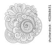 vector monochrome floral...   Shutterstock .eps vector #402868651