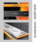 tri fold brochure vector design  | Shutterstock .eps vector #402871645