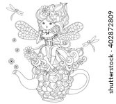 vector cute fairy girl in...   Shutterstock .eps vector #402872809