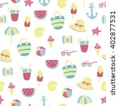 summer beach seamless pattern | Shutterstock .eps vector #402877531