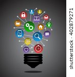 creative internet ideas with... | Shutterstock .eps vector #402879271
