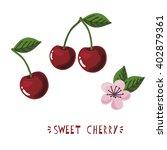 sweet cherry vector set | Shutterstock .eps vector #402879361