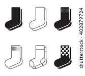 socks icons | Shutterstock .eps vector #402879724