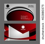 set of business cards    Shutterstock .eps vector #402880375