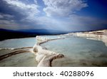 spa at pamukkale - stock photo