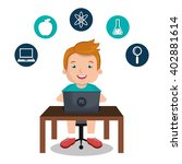 online kids design  | Shutterstock .eps vector #402881614
