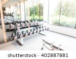 abstract blur fitness and gym... | Shutterstock . vector #402887881
