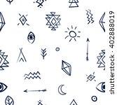tribal art boho seamless... | Shutterstock .eps vector #402888019