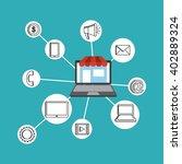social media design    Shutterstock .eps vector #402889324