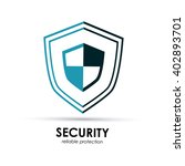 security shield icon  vector... | Shutterstock .eps vector #402893701
