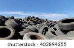 tires used worn for recycling... | Shutterstock . vector #402894355
