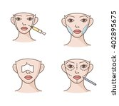 plastic surgery vector icons | Shutterstock .eps vector #402895675