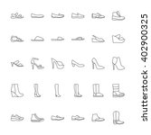 shoes icons. icons men and ... | Shutterstock .eps vector #402900325