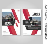 red vector annual report... | Shutterstock .eps vector #402912199