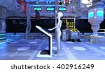 3d cg rendering of an alien | Shutterstock . vector #402916249