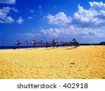 Summer,a beach landscape - stock photo