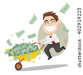 businessman carrying money on a ... | Shutterstock .eps vector #402919225