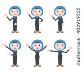 arabian woman character various ...   Shutterstock .eps vector #402919525