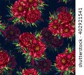 seamless pattern of watercolor... | Shutterstock . vector #402921541