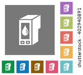 ink cartridge flat icon set on...