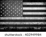 grunge flag of usa  | Shutterstock . vector #402949984
