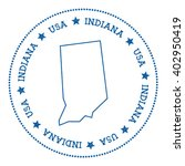 indiana vector map sticker.... | Shutterstock .eps vector #402950419