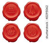 vector sealing wax merry... | Shutterstock .eps vector #40295062