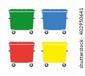 wheelie bin icon | Shutterstock .eps vector #402950641