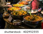 traditional food exposed in... | Shutterstock . vector #402952555
