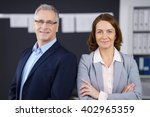 male and female confident... | Shutterstock . vector #402965359