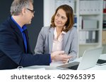 businesswoman in a meeting with ... | Shutterstock . vector #402965395