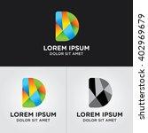 initials d logo design template | Shutterstock .eps vector #402969679