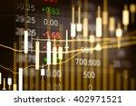 financial data on a monitor.... | Shutterstock . vector #402971521