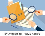 business hand hold magnifying... | Shutterstock .eps vector #402973591