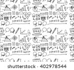 hand drawn seamless doodle... | Shutterstock .eps vector #402978544